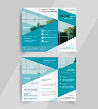 business tri-fold brochure layout design ,vector a4  brochure  template Illustration
