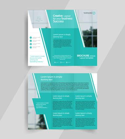threefold: business tri-fold brochure layout design ,vector a4  brochure  template Illustration