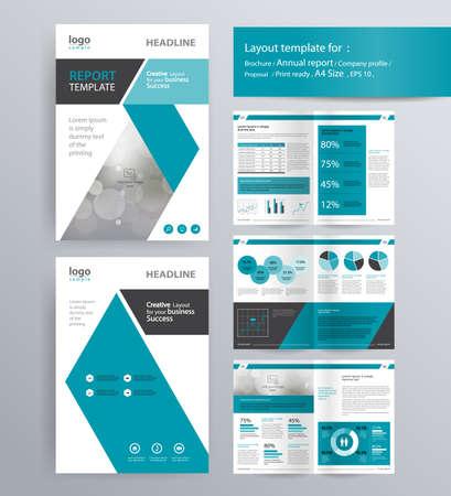 diseño de la página de perfil de la empresa, el informe anual, folleto, y la plantilla de diseño de volante. con información de elemento gráfico. y tamaño A4 vector para editable