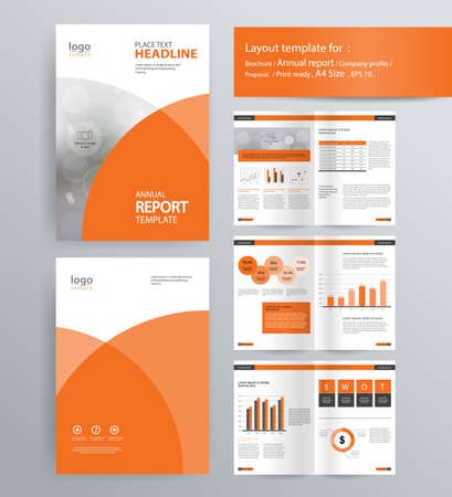 economics: page layout for company profile, annual report, brochure, and flyer layout template. with info graphic element. and vector A4 size  for editable Illustration