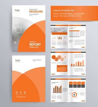 pagina-indeling voor bedrijfsprofiel, jaarverslag, brochure en flyer lay-out template. met info grafisch element. en vector A4-formaat voor bewerkbare