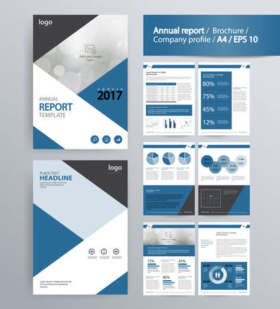 page layout for company profile, annual report, brochure, and flyer layout template. with info graphic element. and vector A4 size  for editable Ilustracja