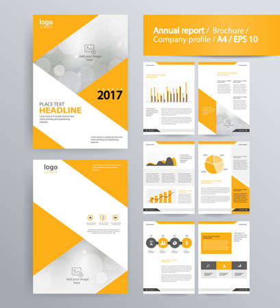 Charming Page Layout For Company Profile, Annual Report, Brochure, And Flyer Layout  Template.  Corporate Profile Template