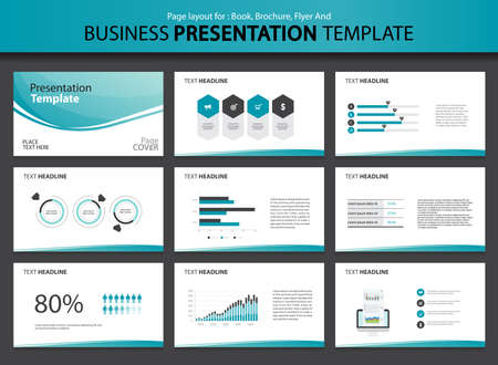 Page layout design for presentation and brochure and book template with infographic elements design