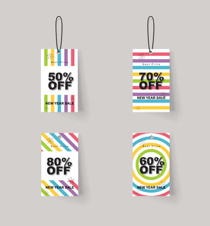 sale tags: vector set of color full price and sale tags designe