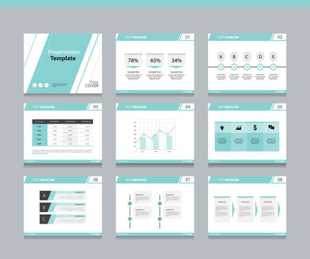 slide: Page layout design template for business presentation page with page cover background design and infographic elements design