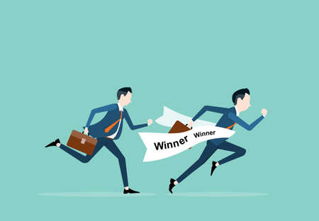 competitive: competitive on business .and business winner concept Illustration