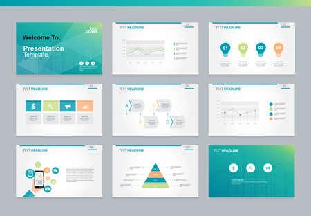 インフォ グラフィックの要素とページ カバー背景デザイン ビジネス プレゼンテーション ページのページ レイアウト デザイン テンプレート