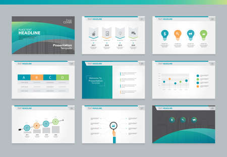 page design: Page layout design template for business presentation page with page cover background design and infographic elements design