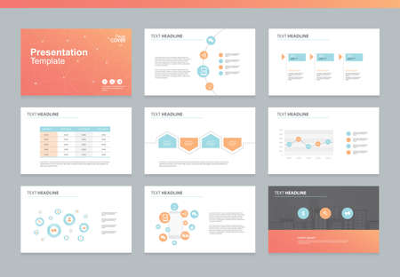 page layout: Page layout design template for presentation and brochure , Annual report, flyer and book page with infographic elements design