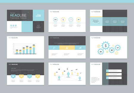 Page layout design template for presentation and brochure , Annual report, flyer and book page with infographic elements design