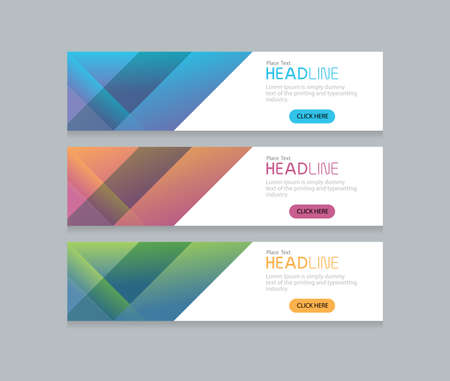 web template: abstract web banner design background template Illustration