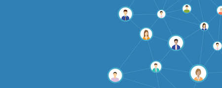 people business connection on social network online concept . and business communication concept