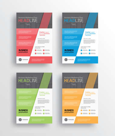 book design: set business marketing flyer brochureposter and report design template .vector eps 10 wirh a4 size for editable