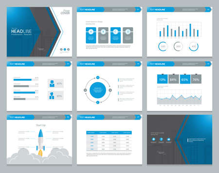 Presentation background design template with infographic elements design for brochure, Annual report, book with cover