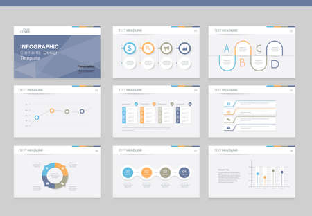 web template: flat vector  set infographics element design template. for business  presentation template , brochure, and web design Illustration