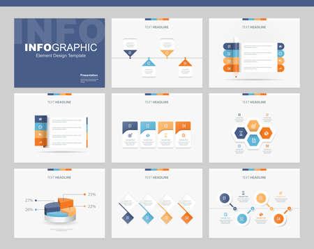 flat vector set infographics element design template. for business, presentation , brochure, annual report and web design 矢量图像