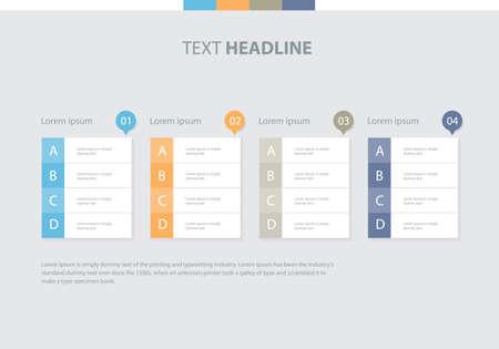 web element: flat vector set infographics element design template. for business, presentation , brochure, annual report and web design Illustration