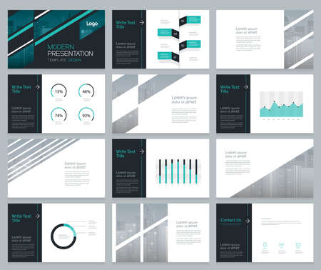 slide show: page layout design for business presentation and brochure ,report,book page with cover design