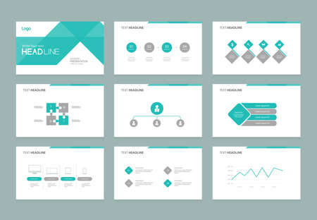 abstract presentation slide template design background with infographic elements for brochure,social info.flat vector illustration