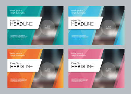 Template set design for social media and web banners background for presentation, brochure, book cover layout, and flyers