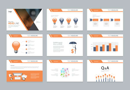 business presentation template design and page layout design for brochure ,book , magazine,annual report and company profile , with infographic elements graph 版權商用圖片 - 86146945