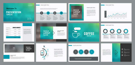 business presentation design template and page layout with cover design for brochure ,report,and book template