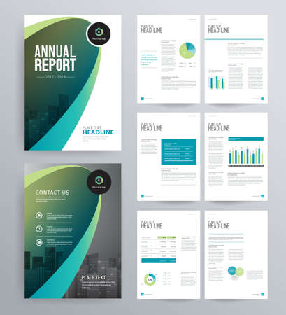 Template design for company profile ,annual report , brochure , flyer ,and page layout with business infographic element, A 4 size, vector editable