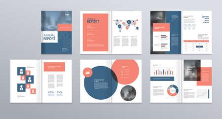 Diseño de plantillas con portada para perfil de empresa, informe anual, folletos, volantes, presentaciones, folleto, revista, libro. y vector de tamaño a4 para editar.