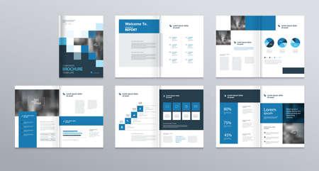 Template-Layout-Design mit Deckblatt für Unternehmensprofil, Geschäftsbericht, Broschüren, Flyer, Präsentationen, Prospekt, Magazin, Buch. und vektorgröße a4 für editable. Vektorgrafik