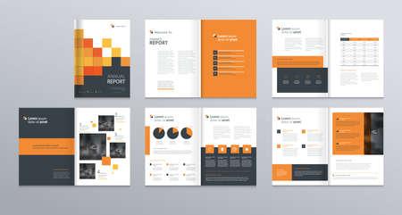 profil d'entreprise, rapport annuel, brochure, dépliant, présentations, magazine et modèle de mise en page de livre, avec élément de graphique de conception et de couverture de la page. taille de vecteur a4 pour éditable.