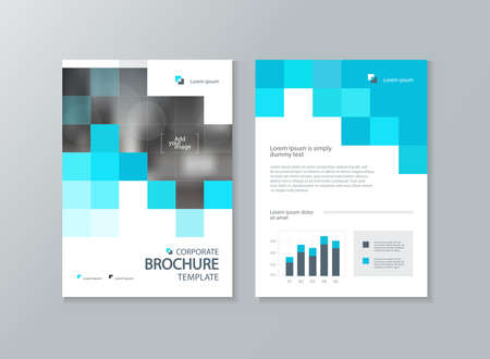 business brochure, flyer ,report layout template, with abstract cover design background Çizim