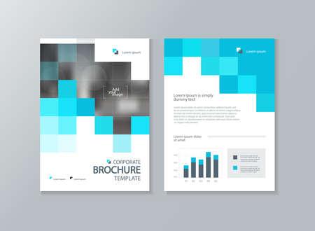 Geschäftsbroschüre, Flyer, Berichtslayoutvorlage, mit abstrakten Cover-Design-Hintergrund
