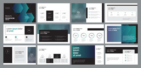 abstract business presentation template design and page layout design for brochure ,book , magazine,annual report and company profile , with info graphic elements graph