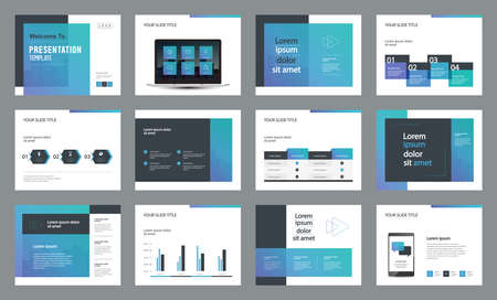 template presentation design and page layout design for brochure ,book , magazine,annual report and company profile , with infographic elements  design Ilustracja