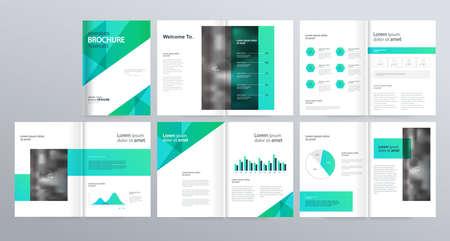 lay-out sjabloon voor bedrijfsprofiel, jaarverslag, brochures, flyers, folder, tijdschrift, boek met omslagpagina-ontwerp.