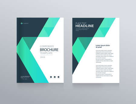 layout design and background template for business brochure, flyer ,report , with cover design Vector Illustration