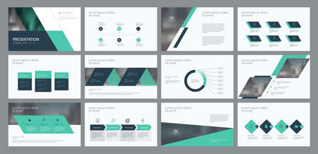 Business presentation template design and page layout design for brochure, annual report and company profile, with info graphic elements