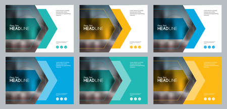 set abstract background template design for social media post and web banners concept , with use in presentation cover,brochure,book cover layout concept Vectores