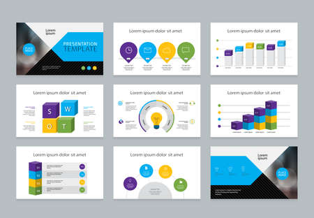 business presentation cover background design template with info graphic elements for annual report , profile ,and business brochure concept