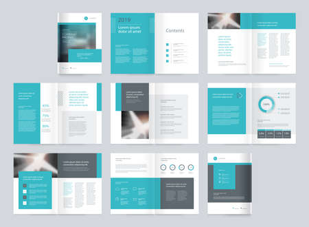 page layout design for company profile, brochure, report,book,catalog