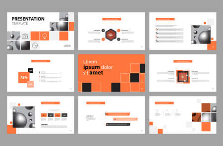 business presentation page layout template design and use for brochure ,book , magazine, annual report and company profile , with timeline infographic elements easy editable