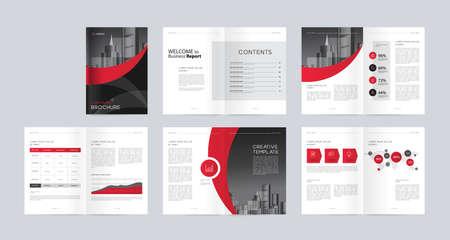 modèle de mise en page avec page de couverture pour le profil de l'entreprise, rapport annuel, brochures, dépliants, présentations, dépliant, magazine, livre. et format vectoriel a4 pour modifiable. Vecteurs