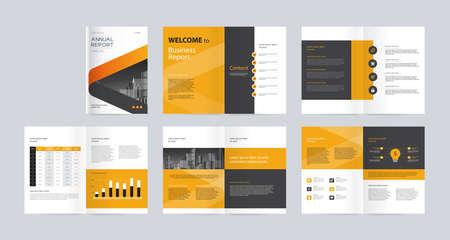 projekt układu szablonu z okładką profilu firmy, raportem rocznym, broszurami, ulotkami, prezentacjami, ulotką, magazynem, książką. i wektor rozmiar a4 do edycji.