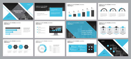 plantilla de diseño de diseño de página para el diseño de presentaciones de negocios y uso para el informe anual y el perfil de la empresa o diseño de folleto con elementos infográficos y concepto de diseño de plantilla de gráfico de informe Ilustración de vector