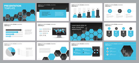 page layout design template for business presentation design and use for annual report and company profile or brochure layout with infographic elements and report chart  template  design concept