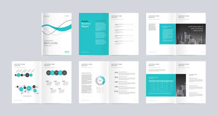 modèle de mise en page avec page de couverture pour le profil de l'entreprise, rapport annuel, brochures, dépliants, présentations, dépliant, magazine, livre. et format vectoriel a4 pour modifiable.