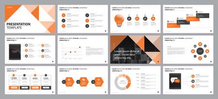 business presentation backgrounds design template, with infographic timeline elements design concept