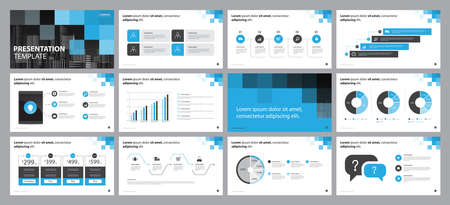 business presentation design template, with infographic timeline elements design concept Ilustração