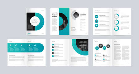 template layout design with cover page for company profile, annual report , brochures, flyers, presentations, leaflet, magazine, book. and vector a4 size for editable. Иллюстрация